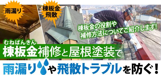 棟板金補修と屋根塗装で雨漏りや飛散トラブルを防ぐ