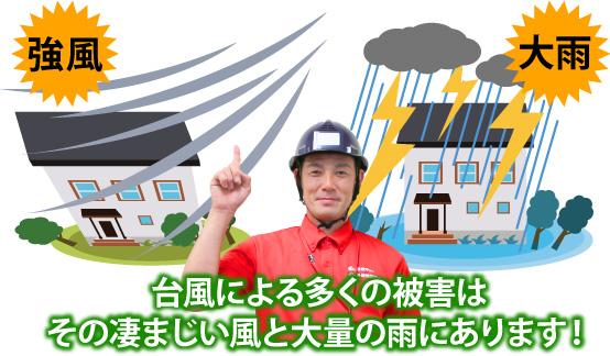 台風による多くの被害はその凄まじい風と大量の雨
