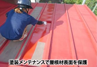 塗装メンテナンスで屋根材表面を保護