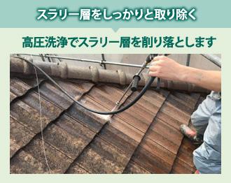 スラリー層をしっかりと取り除く塗装方法