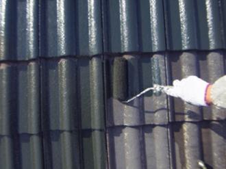 セメント瓦屋根への屋根塗装、塗り替え