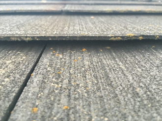 スレート屋根材の浮き
