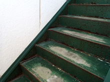 階段室施工前