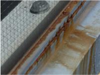 塗膜の劣化により発生したサビ