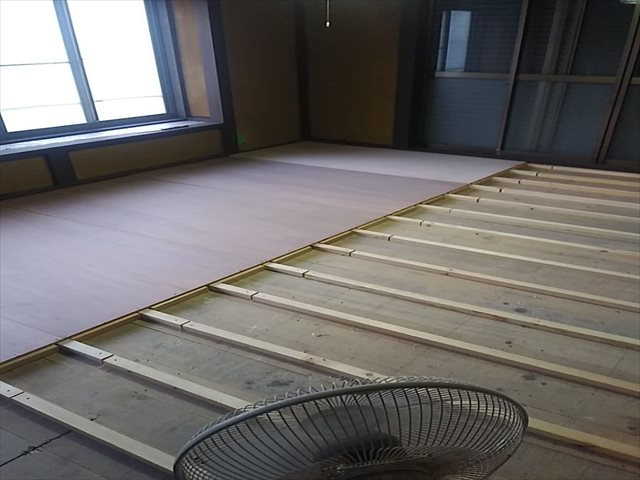 かすみがうら市で和室の床上げ、塗装工事完了!部屋ごとに雰囲気が変わるように塗装しました