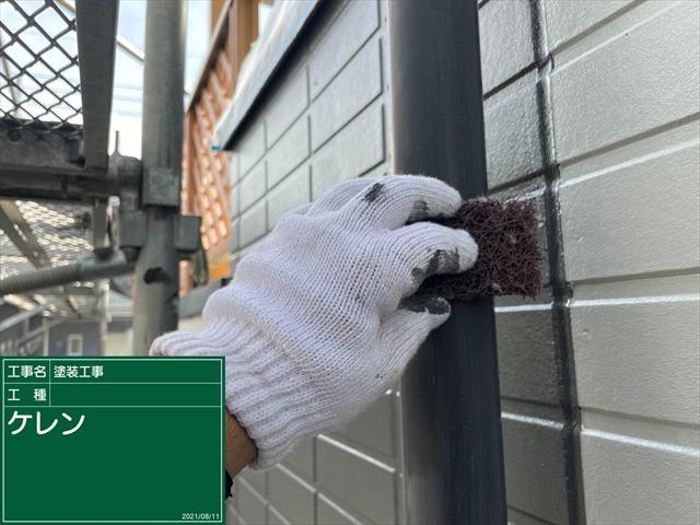 かすみがうら市で外壁の幕板塗装!エアコンダクトカバーも塗装しました