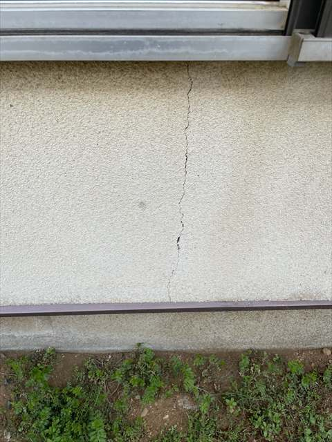 つくば市・外壁ひび割れ②0317_a0001(1)004