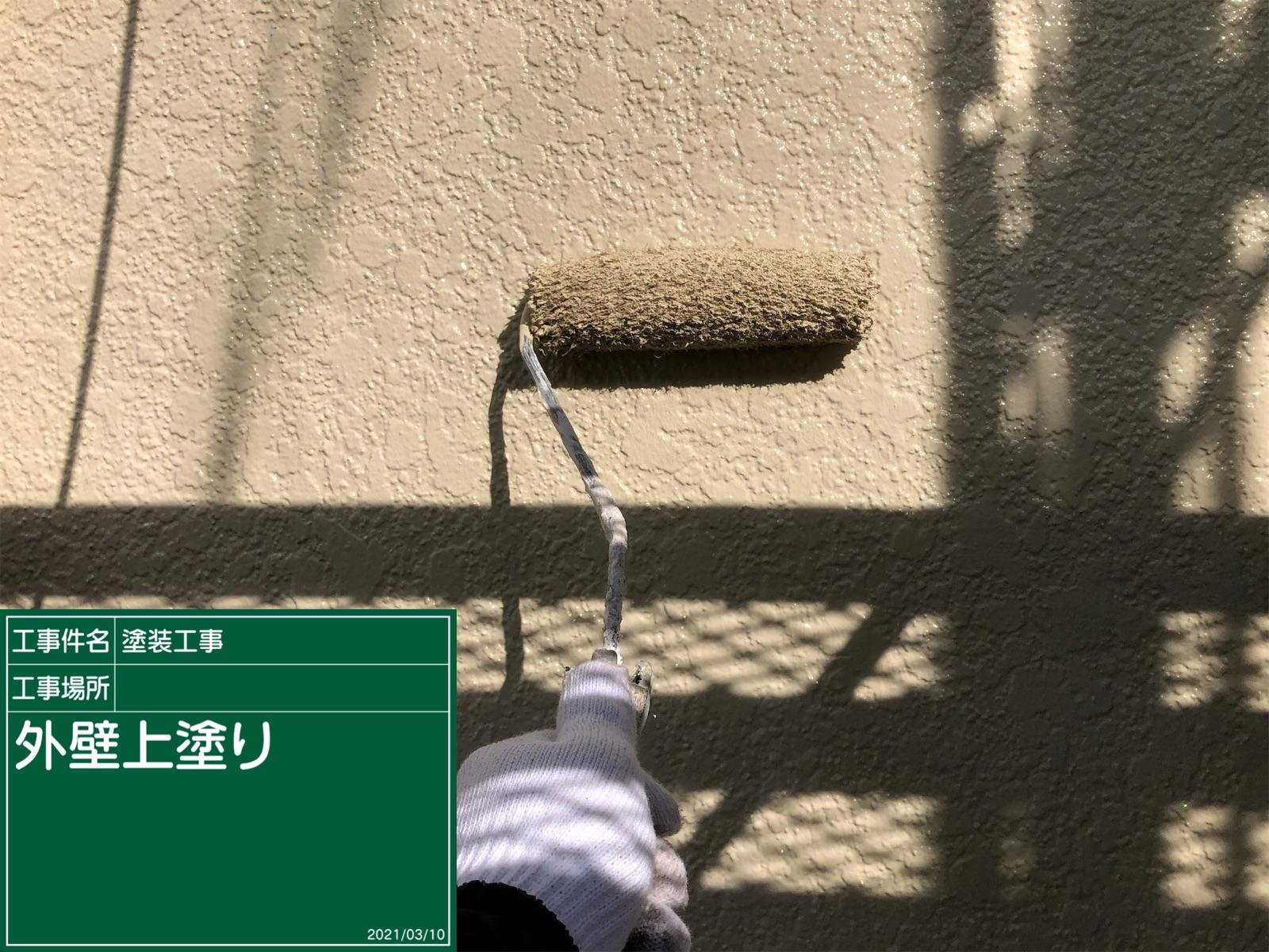 外壁上塗り中300020