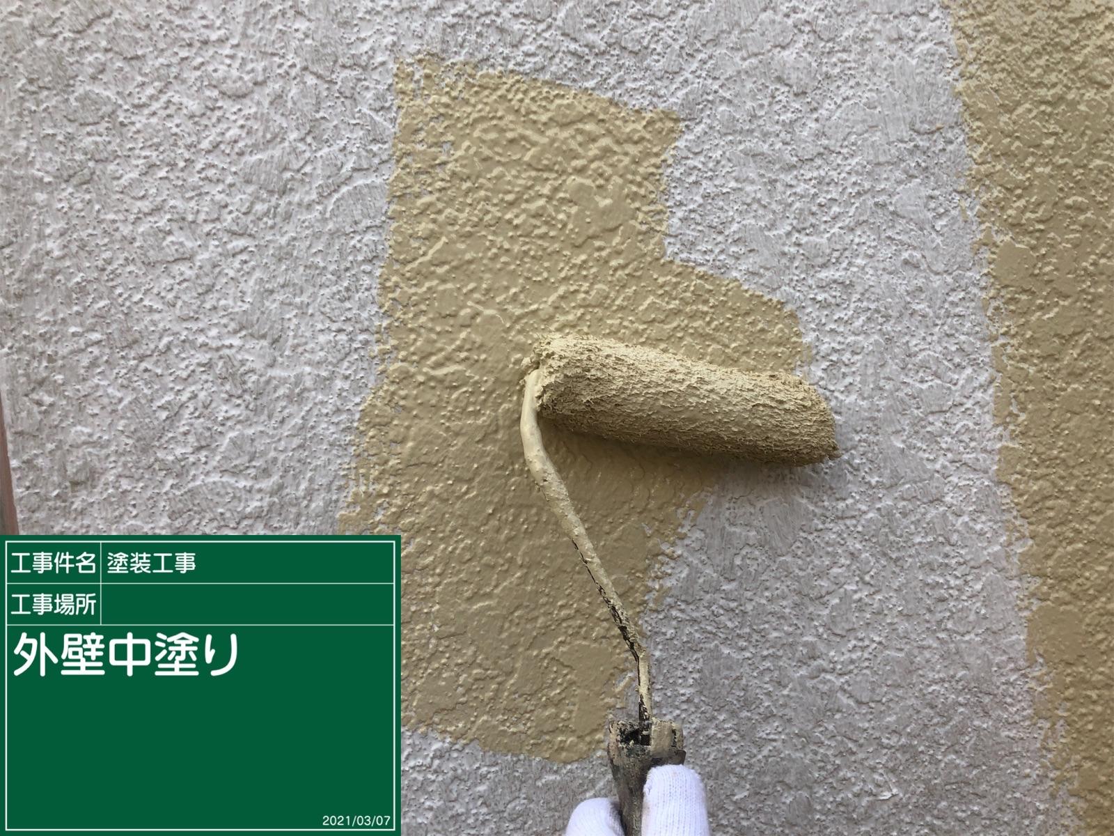 外壁中塗り中300020