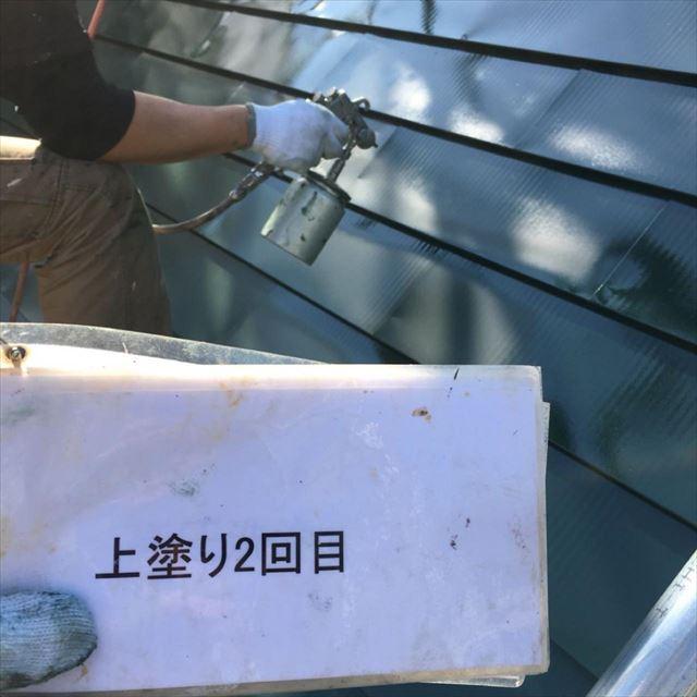 屋根上塗り20190418