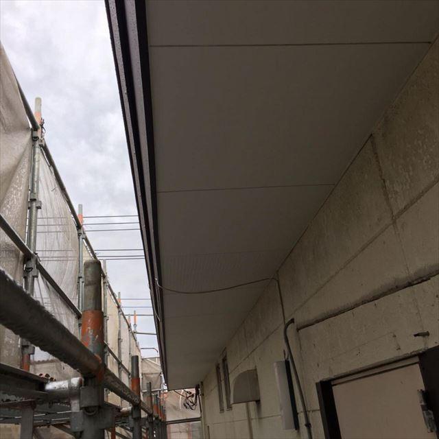 軒天塗装完了20190601