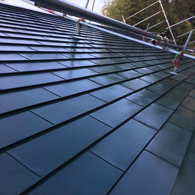 屋根塗装完了20190418