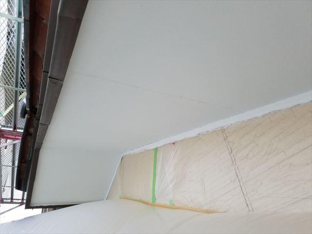 軒天二回目塗装完了20190306
