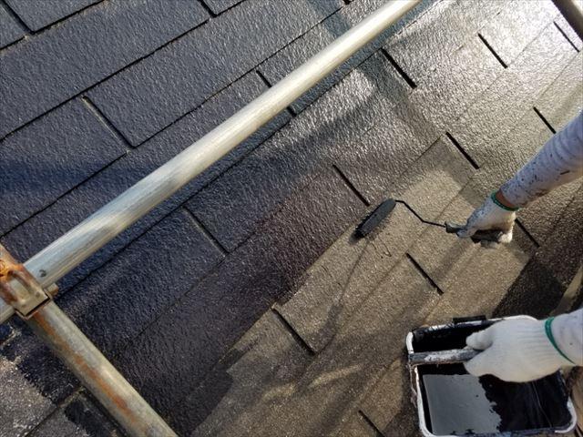 屋根中塗り20180314