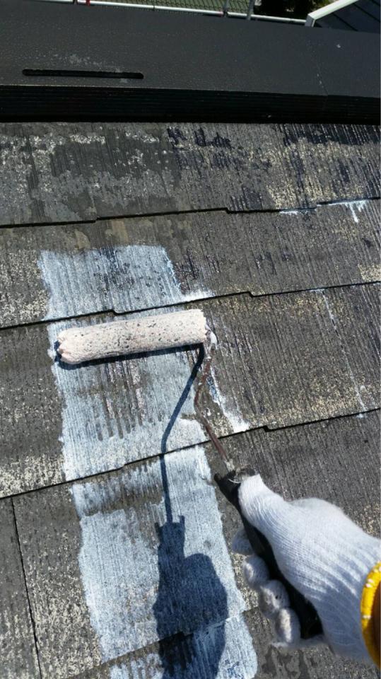 屋根下塗り一回目20190602