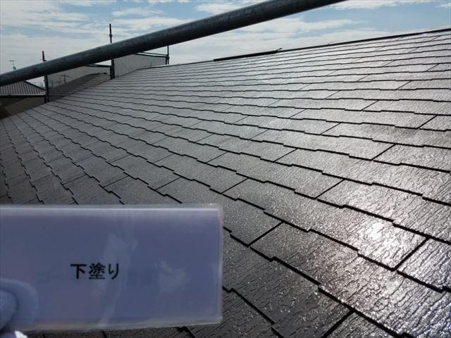 屋根下塗り完了20190318
