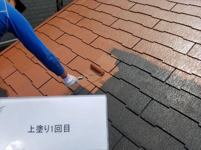 屋根中塗り20190318