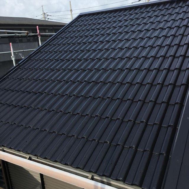 屋根塗装二回目完了20190401