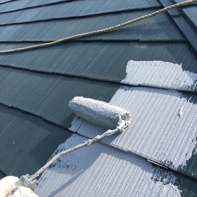 屋根中塗り20190412