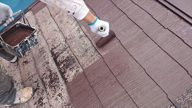 屋根中塗り20190624