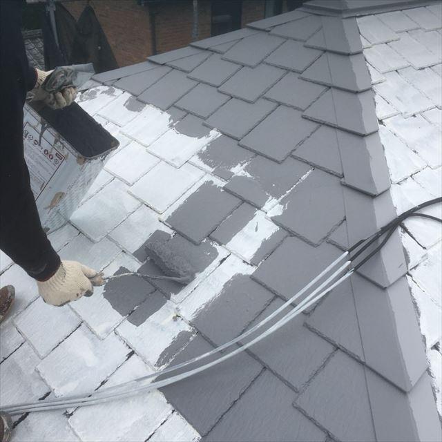 屋根中塗り20190408