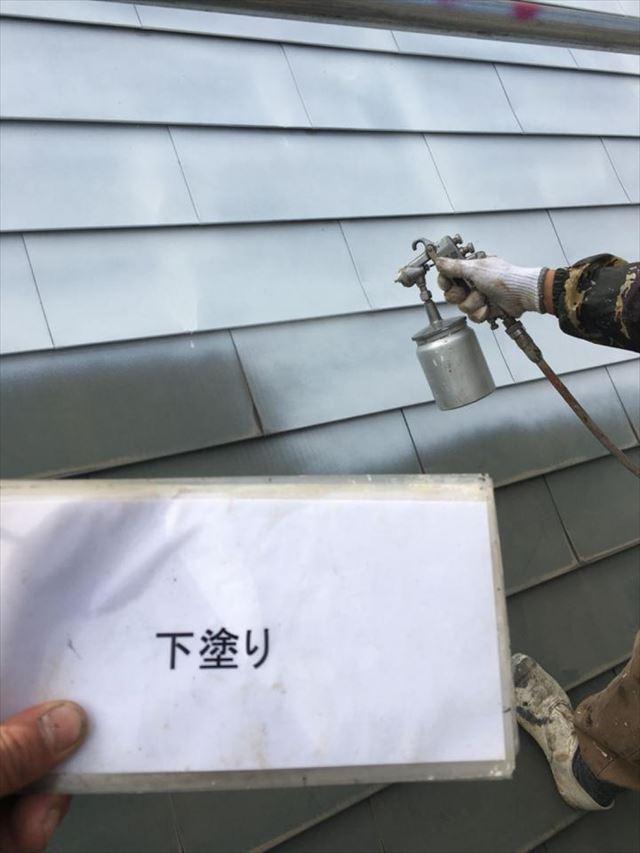 屋根下塗り20190418