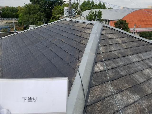 屋根下塗り完了20190323