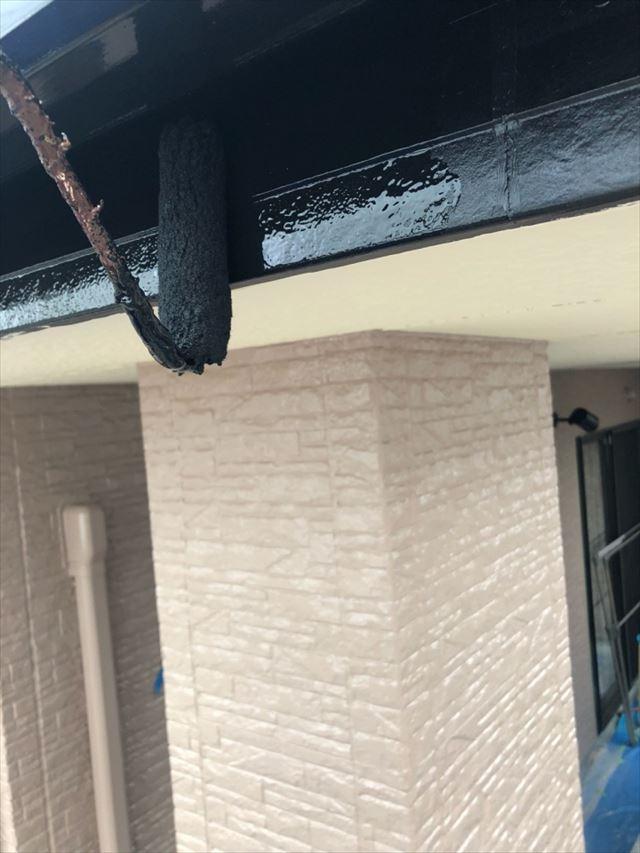 破風板塗装20190704