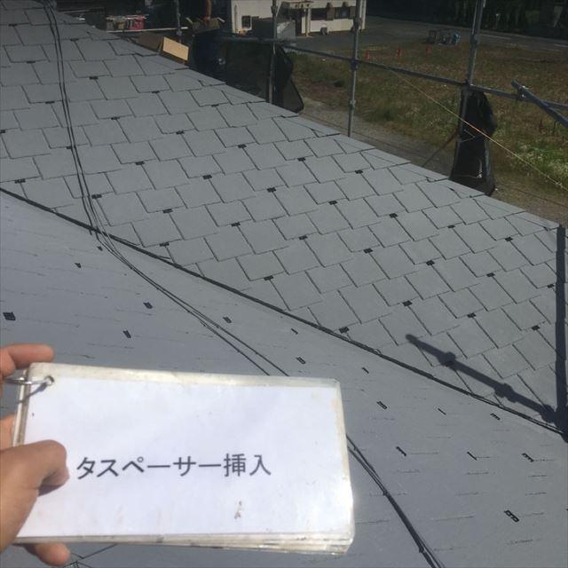 屋根タスペーサー取り付け20190408