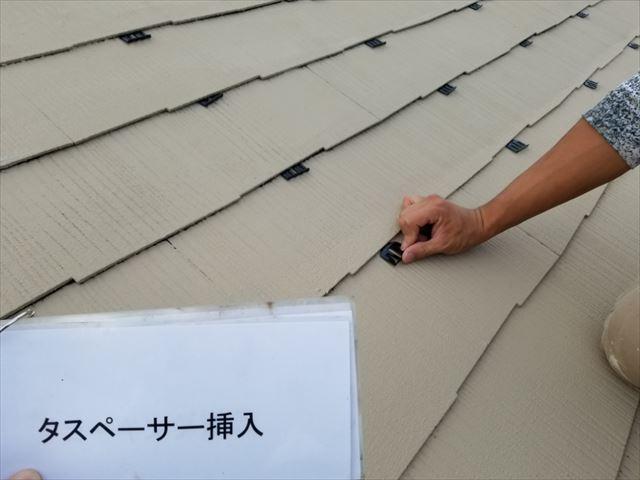 屋根タスペーサー取り付け20190323