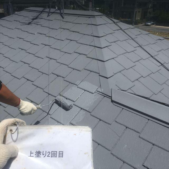 屋根上塗り20190408