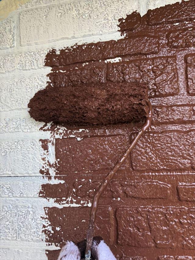 外壁中塗り20190704