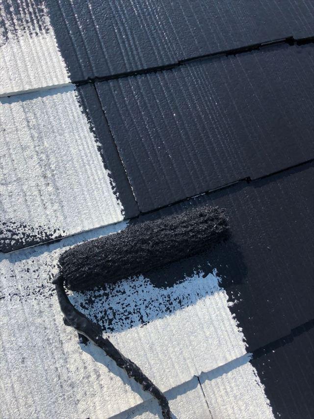 屋根中塗り20190704