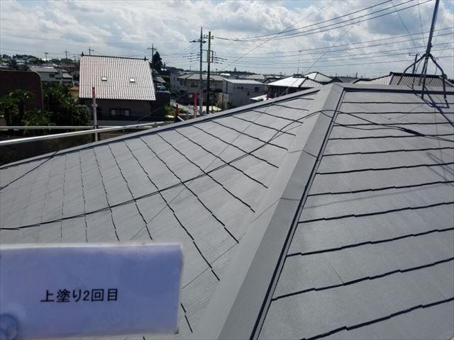 屋根上塗り完了20190323