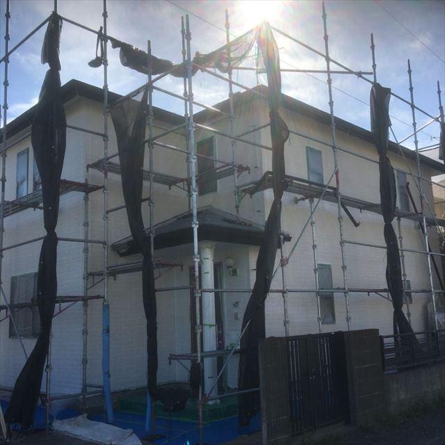 外壁下塗り完了20190408