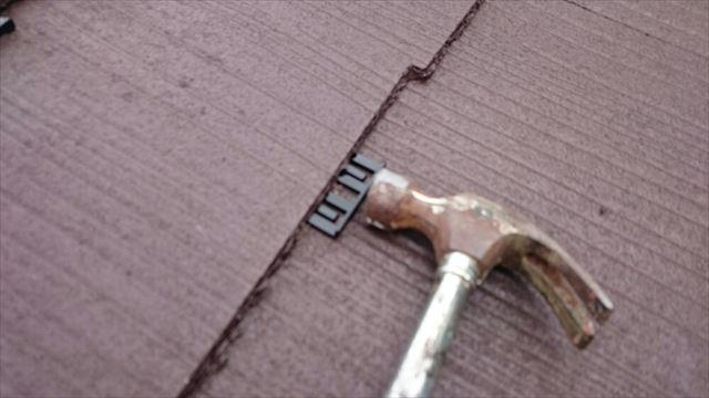 屋根タスペーサー取り付け20190624