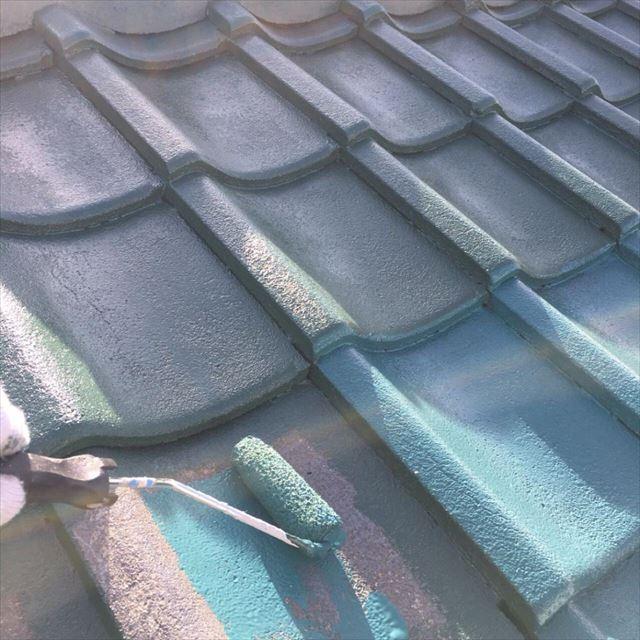 屋根中塗り20190301