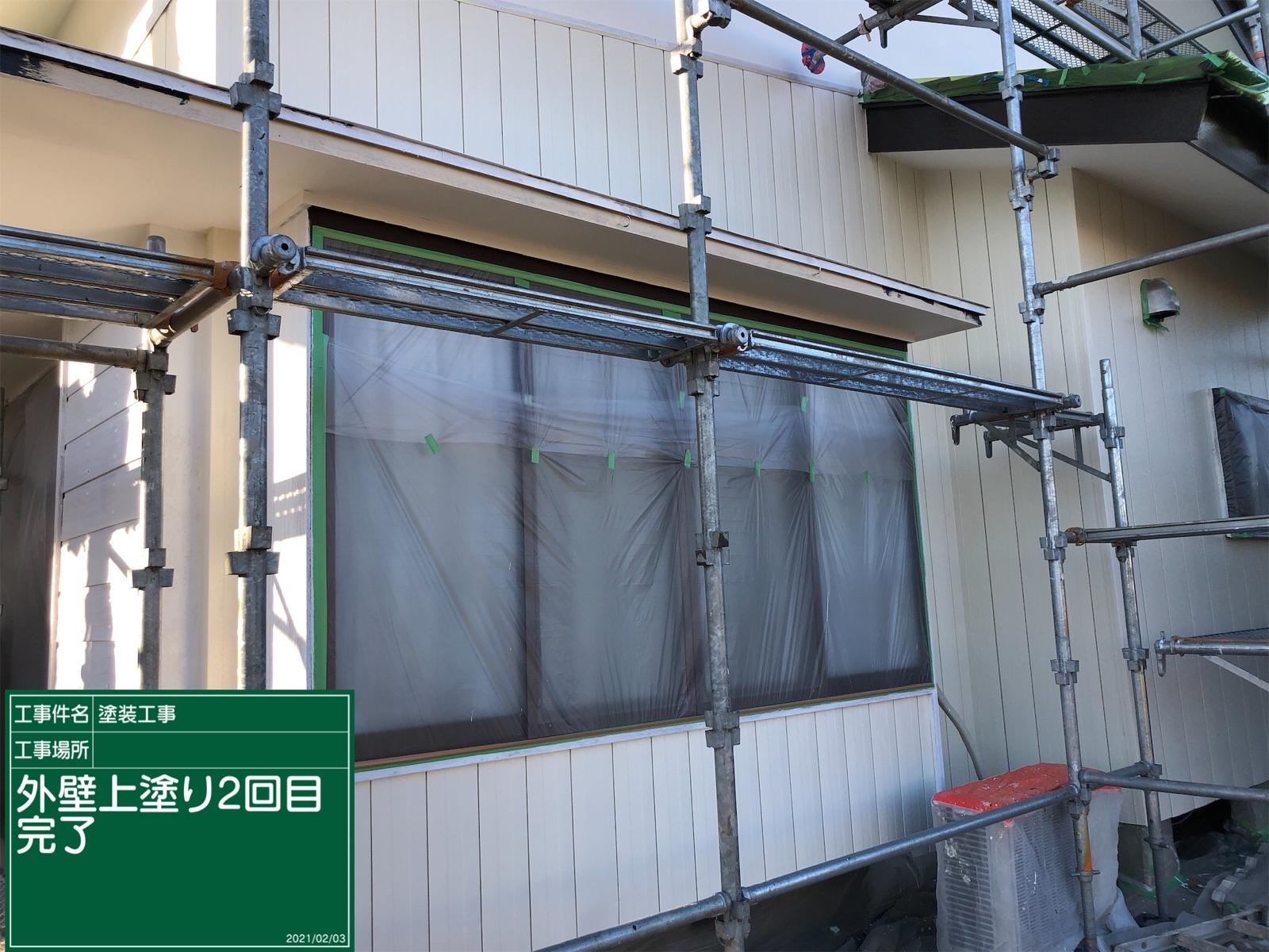外壁上塗り2回目後塗り替え300018