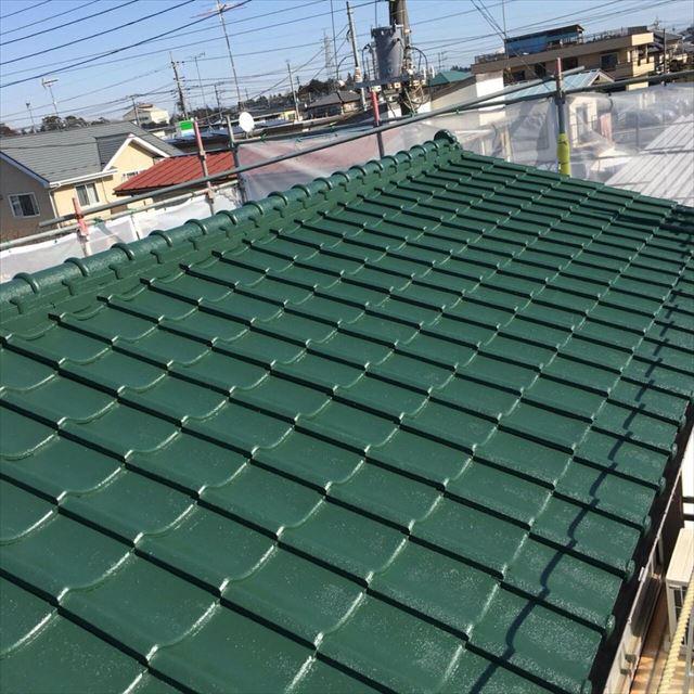 屋根上塗り完了20190301