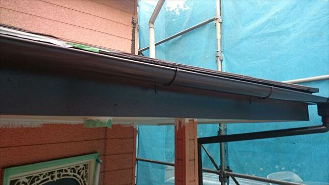 雨樋、破風板塗装完了20190624