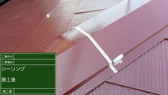 屋根板金コーキング20190312