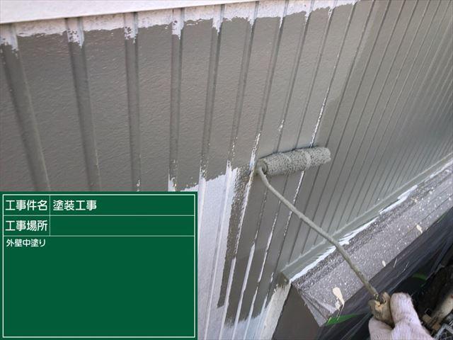 サイディング外壁中塗り20190316