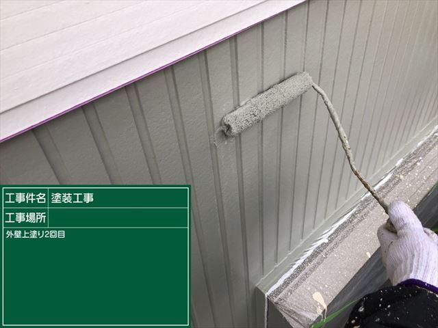 サイディング外壁上塗り二回目20190316
