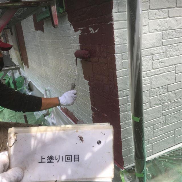 1階外壁上塗り回目