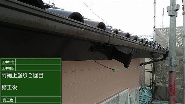 雨樋塗装完了20190525