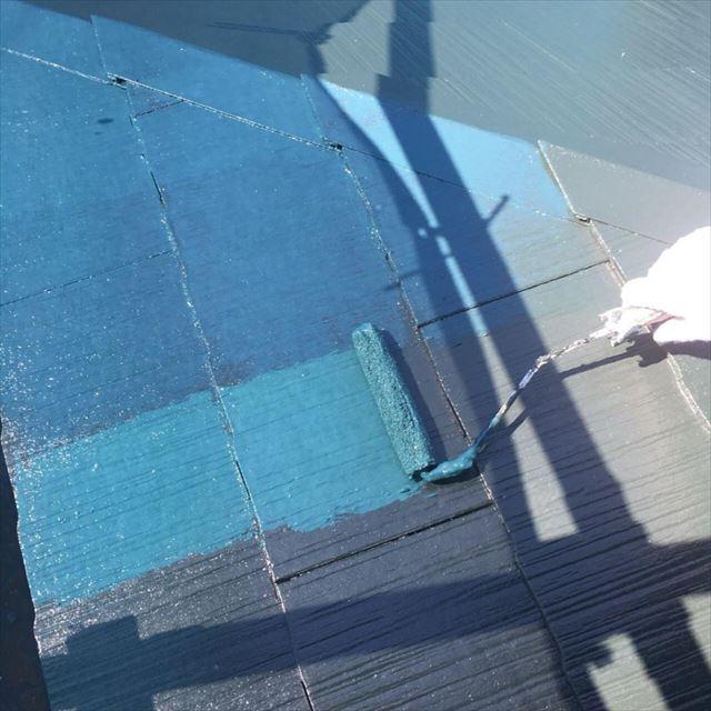 屋根上塗り20180304