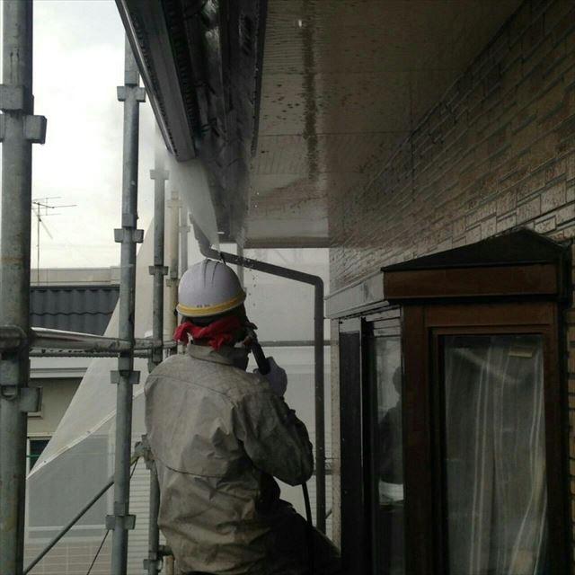 外壁高圧洗浄20190228
