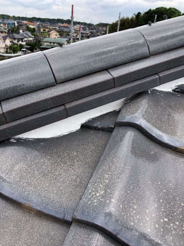 屋根漆喰補修完了20001
