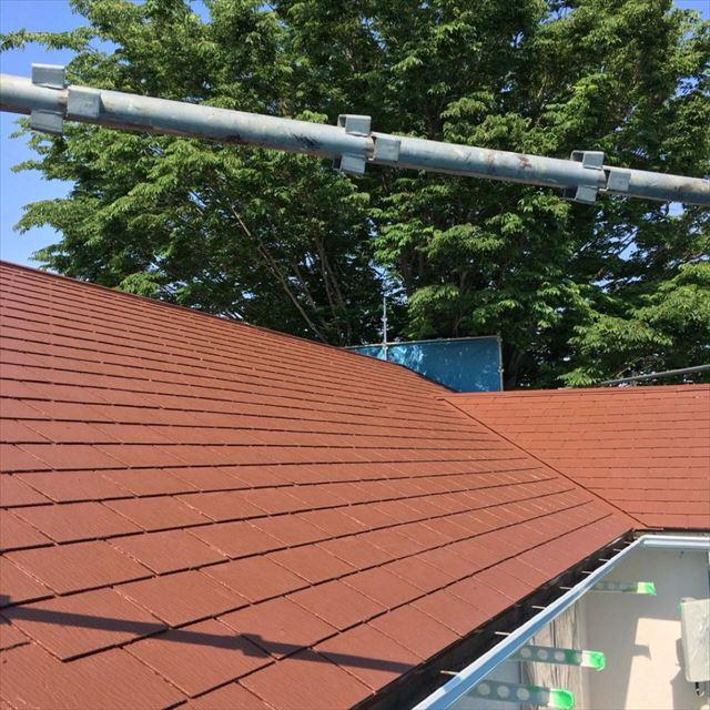 屋根上塗り20190302