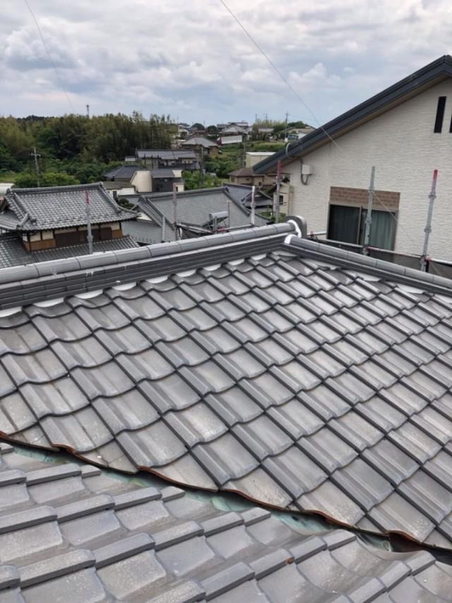 屋根瓦補修完了20001